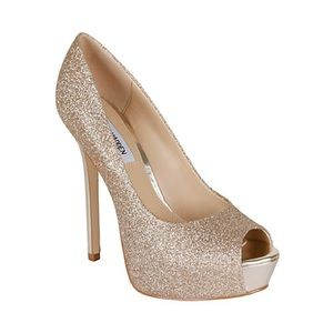Steve Madden Gold Glittery Sparkly Heels ShoeS